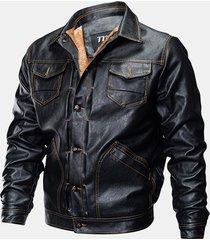 giacca da motocisclista in cuoio