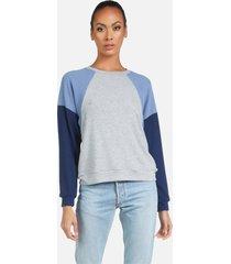 kudo le classic pullover - heather grey/denim/midnight l