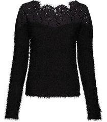 maglione con pizzo e spalle scoperte (nero) - bodyflirt