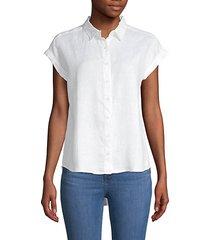 high-low linen shirt