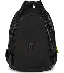 signature snake-embossed leather backpack