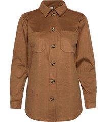sc-leigh långärmad skjorta brun soyaconcept