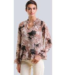 blouse alba moda bruin::hazelnoot
