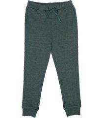 pantalon de buzo liso con bolsillos verde  pillin