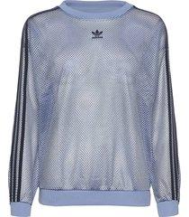 mesh crew sweat-shirt tröja blå adidas originals