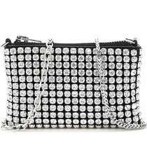 alexander wang heiress nano crystal mesh pouch