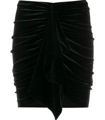 alexandre vauthier draped velvet mini skirt - black