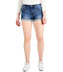 celebrity pink juniors' high-rise roll-cuff jean shorts