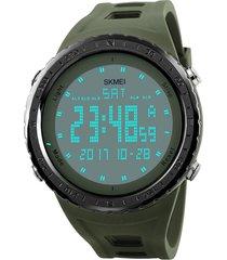 reloj deportivo digital militar skmei 1246 impermeable verde