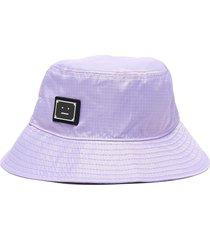 face plaque nylon bucket hat