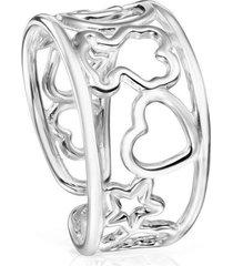 anillo silueta plata 913565500