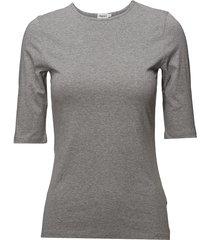 cotton stretch elbow sleeve t-shirts & tops short-sleeved grå filippa k