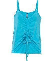 top con arricciatura (blu) - rainbow