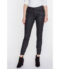czarne spodnie woskowane sabrina
