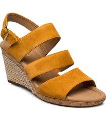 sandals sandalette med klack espadrilles orange gabor