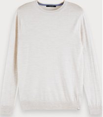 scotch & soda sweater van merinowol met lange mouwen