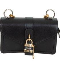 chloé lock detail envelope shoulder bag