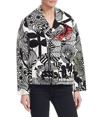 printed moto jacket