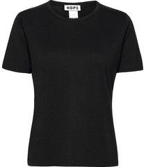 edit tee t-shirts & tops short-sleeved zwart hope