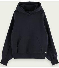 scotch & soda hoodie gebreid van katoen en wol