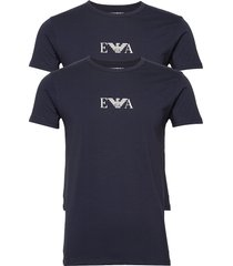 mens knit 2pack t-sh t-shirts short-sleeved blå emporio armani