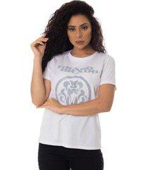 camiseta turnê a jornada thiago brado slim 6027000009 branco - branco - pp - feminino