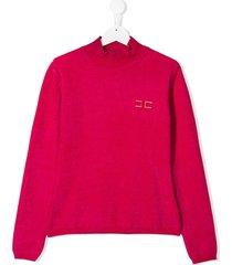 elisabetta franchi la mia bambina high-neck sweatshirt - pink