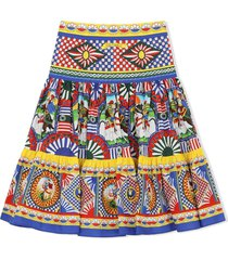 dolce & gabbana multicolour cotton skirt