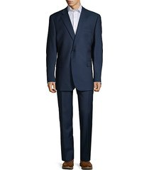 classic-fit wool & silk suit