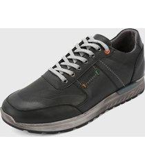 zapato casual negro-gris san polos