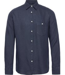larch ls shirt overhemd business blauw knowledge cotton apparel