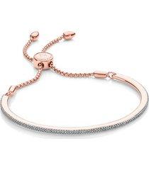 rose gold fiji skinny bar friendship chain bracelet diamond