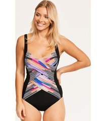 utopia shaped square neck one-piece swimsuit