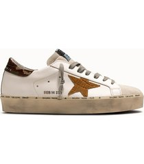 golden goose deluxe brand sneakers hi star colore bianco camou