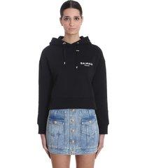 balmain sweatshirt in black cotton