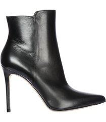 stivaletti stivali donna con tacco in pelle margy