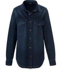 jeansoverhemd 100% katoen lange mouwen van joop! denim