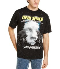 guess men's oversized new space graphic t-shirt