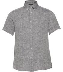 daniel ss-linen melange overhemd met korte mouwen grijs j. lindeberg