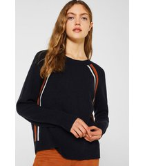 sweater elástico con rayas azul esprit