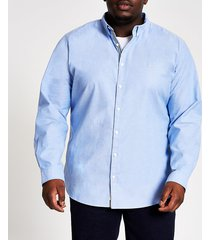 river island mens big & tall blue slim fit oxford shirt