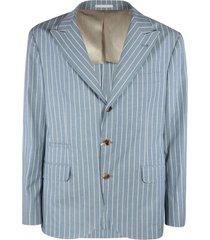 brunello cucinelli pinstripe blazer