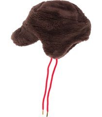 mini rodini faux fur hat - brown