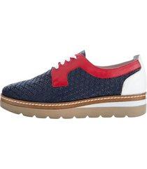skor klingel marinblå::vit::röd