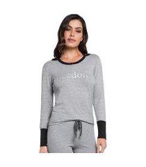 pijama longo com calça jogger freedom feminino