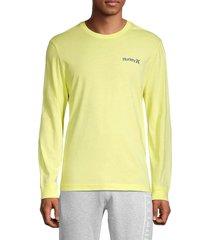hurley men's bodega pineapple logo t-shirt - dark blue - size l