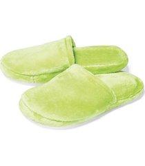 sandalia plana verde neon marketing personal 52029