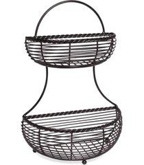 gourmet basics by mikasa 2-tier flatback wire basket