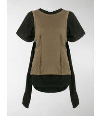 jw anderson layered asymmetrical t-shirt