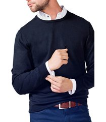 sweater cuello redondo negro arrow
